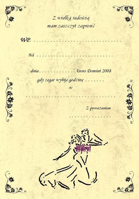 Zaproszenia Na Bal Sylwestrowy Sylwestra Zaproszenia ślubne Na